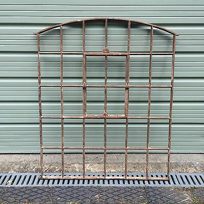 Early Victorian Cast Iron Arched Metal Window