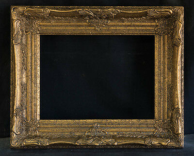 "Antique Reproduction Ornate Gold Frame 12"" x 16"", 3 1/2"" Wide, 2 /1/2"" Thick"