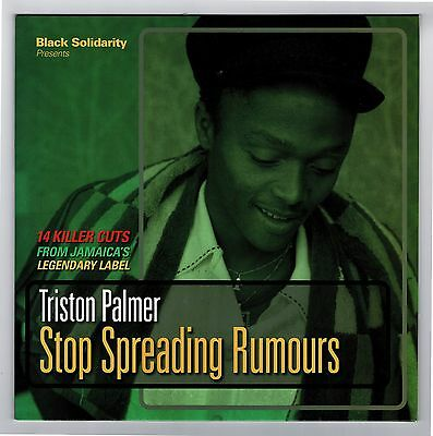 TRISTON PALMER-stop spreading rumours   LP  black solidarity    roots reggae