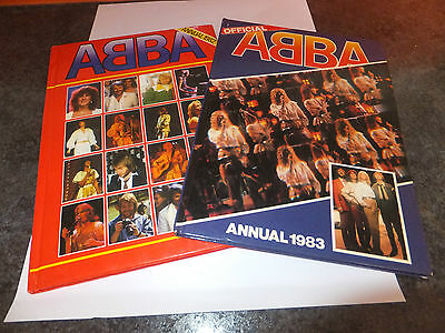 2 Old Childrens books: ABBA annual 1982 & 1983, hardback, excellent condition