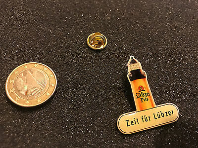 Bier Beer Pin Badge Lübzer Pils Leuchtturm