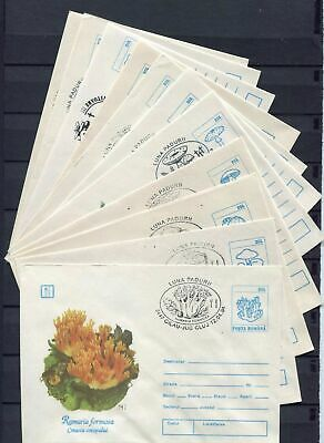 s16189) ROMANIA 1993/94  11 different  covers with different postmarks MUSHROOMS