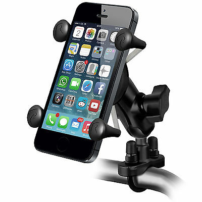 RAM-B-149ZA-UN7-KT U-Bolt Handlebar Mount & X-Grip Smart Phone & Sat Nav Holder