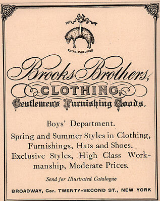 2 Early 1900's  Ads Brooks Brothers Gentlemens Furnishing Goods Riding Boys