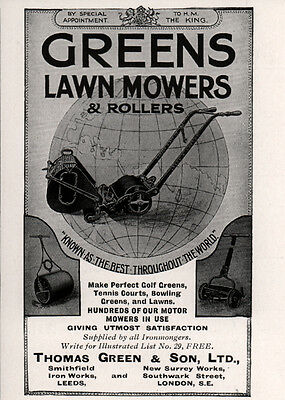 Ad Lot Of 3 Early Ads Ransomes Lawn Mowers 7 Medals