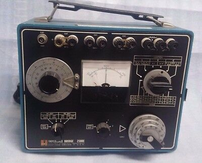VINTAGE IMPEDENCE BRIDGE ESI 250DE Rare Test Equipment FUNZIONANTE