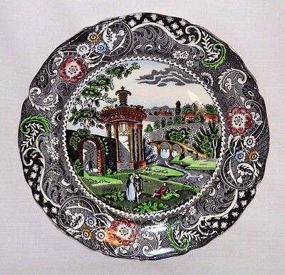 """Vintage Antique 10"""" W.R. Midwinter Landscape Plate Made in England 1910-1930"""