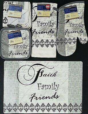 Kitchen Faith Family Friends Theme Linen & Placemat Set, Select: Items