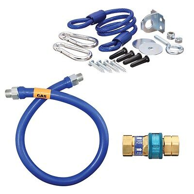 Dormont 1675BPQR48BX Dormont Blue Hose Moveable Gas Connector