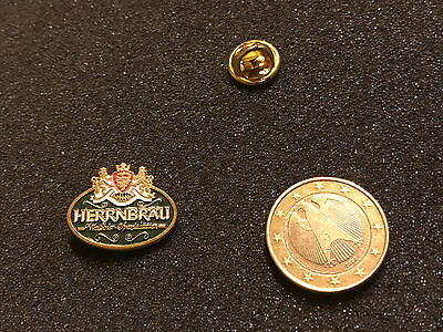 Bier Beer Pin Badge Herrenbräu Logo Wappen