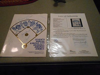Roger Maris Signed 7Th Annual Kansas City Baseball Awards Dinner/plus 7/loa Jsa
