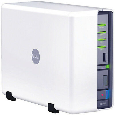 Synology DiskStation DS211j. Excellent Condition! 2 Drive Bays. Ships Free!
