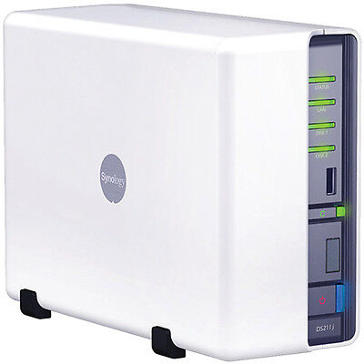 Synology DiskStation DS211j. Good Condition. 2 Drive Bays. Ships Free!