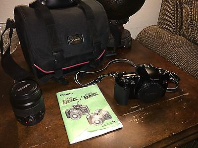 Canon Rebel XS film Camera, EF 35 - 80 mm Lens, Case With Strap W/ Instructions