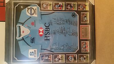 2012 Signed and Framed NSW Waratahs Jersey