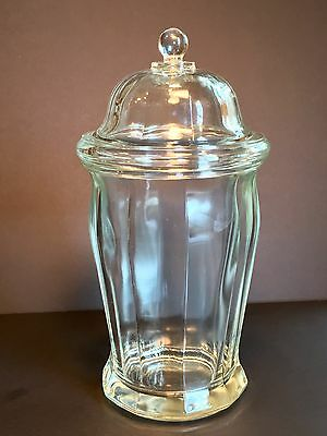 Antique Large Heavy Glass Apothecary/ Candy Canister- Caddy
