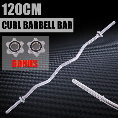 120 CM Curl Barbell Bar Olympic Barbell Weightlifting Gym Fitness Exercise Home