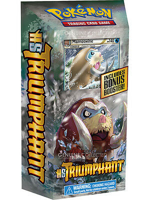 60-Card Mamoswine Verdant Frost HS Triumphant Theme Deck Pokemon 1 Booster Pack