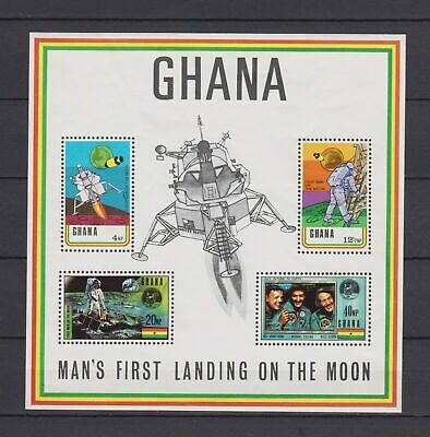 s16346) GHANA  MNH** 1970 1st Landing on the Moon - Space s/s