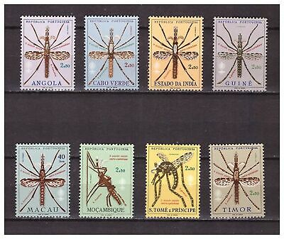 s16570) PORTUGUES COLONIES  MNH** 1962 Malaria 7v. Insects