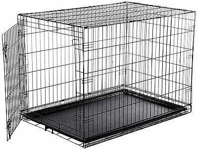 Extra Large Metal Dog Crate Kennel Pet Folding Single Door Wire Cage 42inch