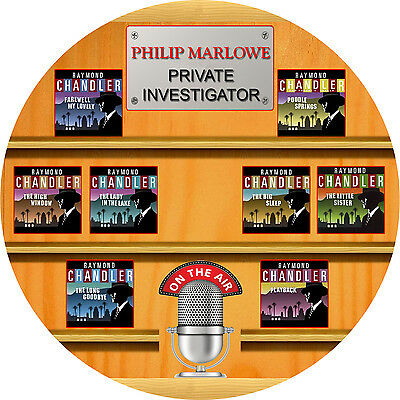 "Raymond Chandler`s Philip Marlowe ""Is On The Air"" - MP3 Audio Book - CD"