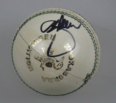 DENNIS LILLIE Hand Signed Cricket Ball