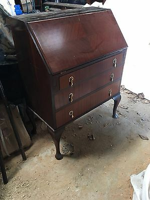 Mahogany Writing Bureau Desk In Great Condition