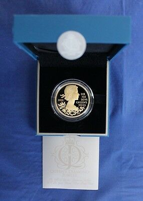 "2012 Gold Plated Silver Proof £5 Crown ""Diamond Jubilee"" in Case/COA   (AR2/26)"
