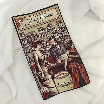 Fabric Block. 1800's Vintage Grocer Scene. Craft or framing idea from Australia