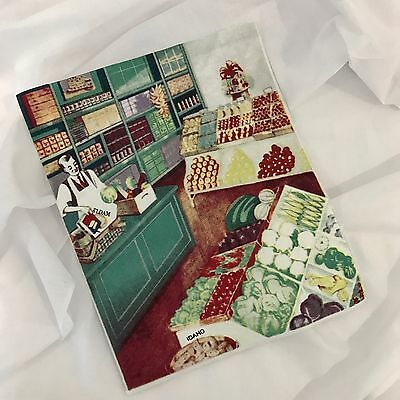 Fabric Block. VINTAGE 1940'S GROCERY STORE. Craft or framing idea from Australia