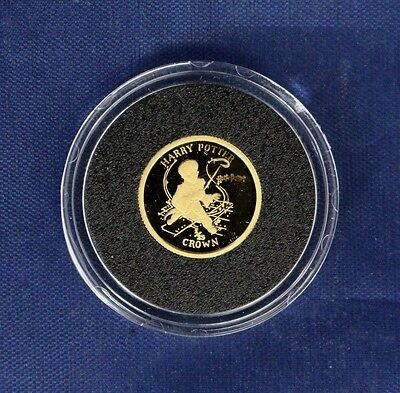 "2001 Isle of Man 1/25oz Gold coin ""Harry Potter"" in Capsule with COA    (Z7/23)"
