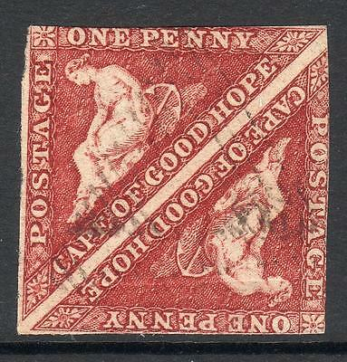 C.O.G.H.1857 SG 5  Fine Lightly Used PAIR Quality sound stamps(cat £1800) Nice!