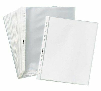 """Clear Plastic Sheet Page Protectors ACID Free 8.5x11"""" 200Sleeves Document Office"""
