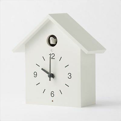 MUJI Dove Cuckoo Clock with Light & Sensor Watch Large Size From JAPAN F/S