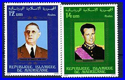 MAURITANIA 1978 LEADERS fr.EUROPE MNH DE GAULLE (K-DEC)