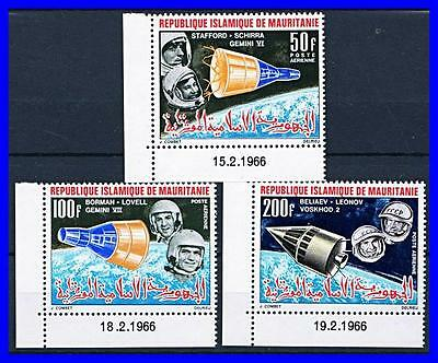MAURITANIA 1966 RUSSIA & USA in SPACE MNH   (K-DEC)