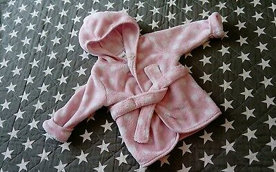 baby girls pink dressing gown age 3-6 months