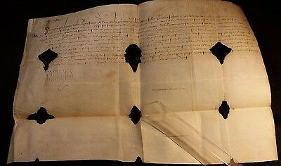 King Francis I of France Autograph on Large Parchment Document 1524 - Very Rare
