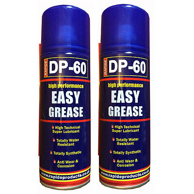 2 x Easy Grease Spray Lubricant Synthetic Oil Waterproof Rust Protection New