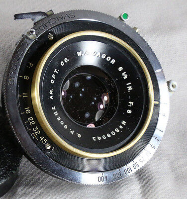 Goerz Golden WA Dagor 6-1/2 In F8-Lens in Excellent Condition Serial # 809 943