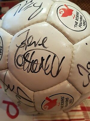 CHELTENHAM TOWN SIGNED FOOTBALL EARLY 2000's