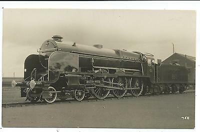 """SOUTHERN RAILWAY - Steam Loco no.850 """"LORD NELSON""""  Moore Real Photo Postcard"""