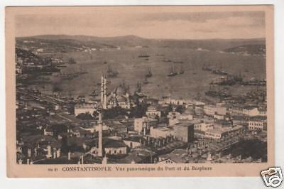 TURKEY - CONSTANTINOPLE, VUE PORT ET DU BOSPHORE Postcard *
