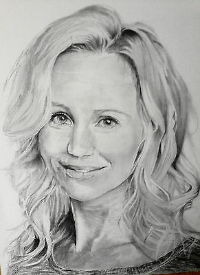 Actress Sofia Helin from The Bridge -  A Graphite Pencil Tonal Drawing