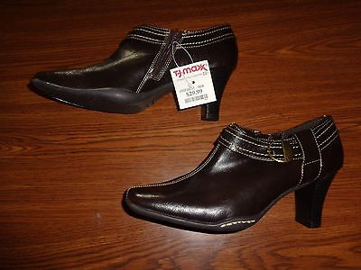 Aerosoles BROWN ZIPPER SHOES WOMEN'S SIZE 8 B (2.5 INCH HEEL)