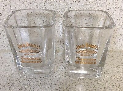 Collectable Jack Daniel's Tennessee Whiskey Shot Glasses X 2