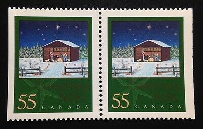 Canada #1874as MNH, Christmas Nativity Booklet Pair of Stamps 2000