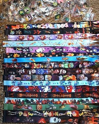 Disney World Pin Trading Lot Lanyard Starter Set With 2 Lanyards and 50 Pins • $23.50