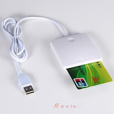 USB Credit Card Reader Chips IC Cards Writer With SIM Slot For Smart Cards High